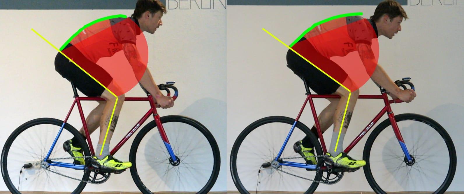 Beispiel unseres Bikefittings mit Hagen